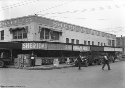 Sheridan Fruit Co 333 SE Alder St., circa 1929: A2009-009.2435