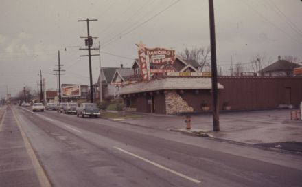 View of the Alibi Resturant on N Interstate at N Shaver(VZ 444-63), 1963: A2011-013